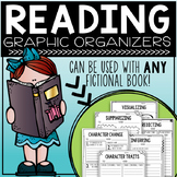 Reading Graphic Organizers - To be used with ANY fictional book!