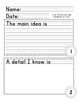 Reading Graphic Organizers - Differentiated