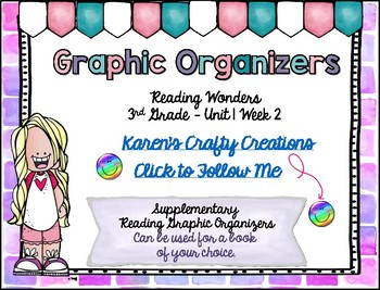 Reading Graphic Organizers: 3rd Grade - Reading Wonders (U 1 W 2)