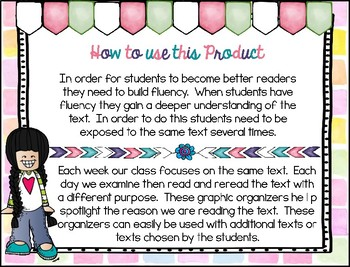 Reading Graphic Organizers:  3rd Grade - Reading Wonders (U 1 W 3)