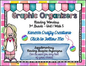 Reading Graphic Organizers: 3rd Grade  - Reading Wonders (U1 W5)