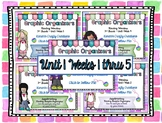 Reading Graphic Organizers: 3rd Grade - Reading Wonders Unit 1 Bundle