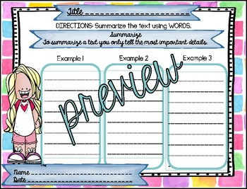 Reading Graphic Organizers: 3rd Grade - Reading Wonders Unit 1 Bundle