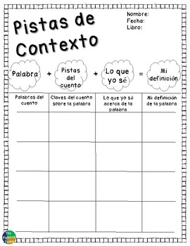 Spanish Reading Graphic Organizers