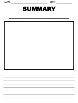 Reading Graphic Organizers (Templates)
