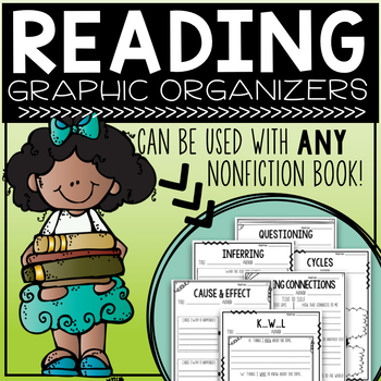 Reading Graphic Organizers - To be used with ANY nonfiction book!