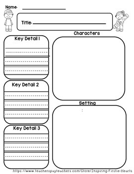 Reading Graphic Organizers Using Key Details