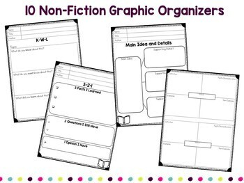 Reading Graphic Organizers for Google Classroom