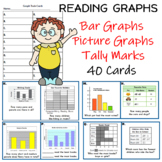 Data and Graphs Task Cards (40 task cards)