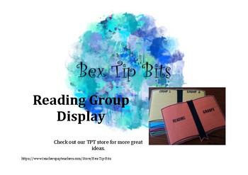 Reading Group Classroom Organisation Display