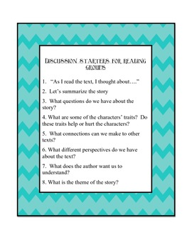 Reading Group Discussion Starters