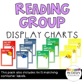 Reading Group Display Charts and Labels  - Marine Animals