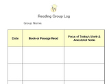 Reading Group Log - Documentation & Anecdotal Notes