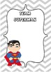 Reading Group / Maths Group Super Hero Themed Posters