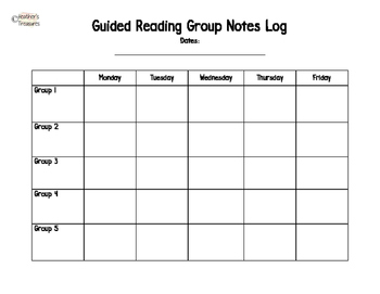 Reading Group Notes Log