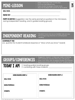 Reading Group Planning Page