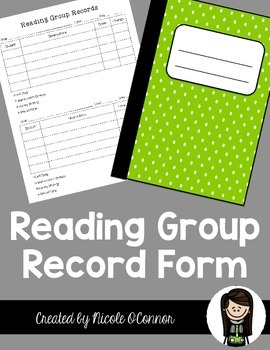 Reading Group Record Form