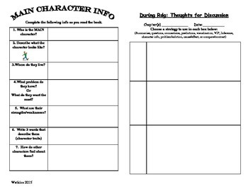 Reading Group Response Booklet - Mixed Assignments for any chapter book