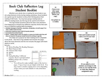 Reading Group Response Booklet - Mixed Assignments for any