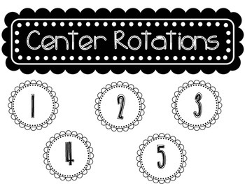 Reading Group Rotation Cards for the Primary Grades