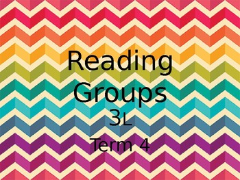 Reading Group Schedule