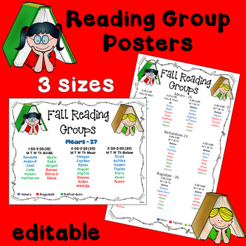 Reading Group Schedule Posters