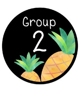 Reading Group Signs (editable name labels included).