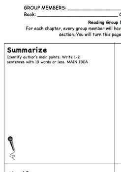 Reading Group Work using Reciprocal Teaching