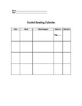 Reading Groups Calendar
