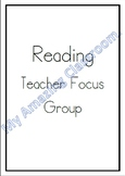 Reading Groups Focus Notes