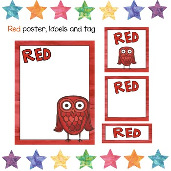 Reading Groups - Labels Posters and Tags   Owl theme