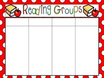 Reading Groups Organizer and Schedule