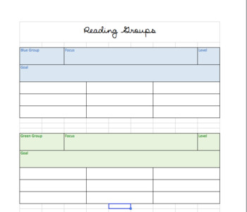 Reading Groups Overview Template