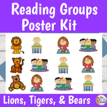 Reading Groups Poster Kit Lions Tigers and Bears
