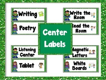 Guided Reading Rotation Poster Kit and Center Labels