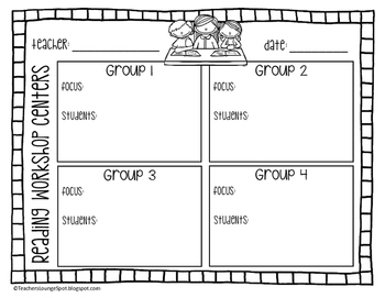 Reading Rotation Board - Includes Planning Page & Exit Slip