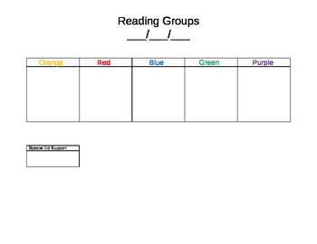 Reading Groups Spreadsheet