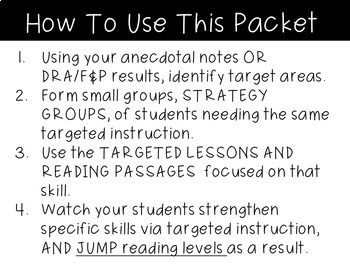 Reading Groups Targeted Lessons ~ Guided Reading 2nd Grade Targeted Lessons