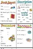 Reading Groups Writing Folders Printables