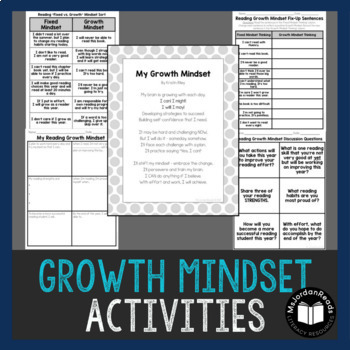 Growth Mindset for Reading - Activities & Posters