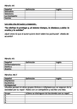 Reading Guide: EL PACHUCO Y OTROS EXTREMOS - Octavio Paz