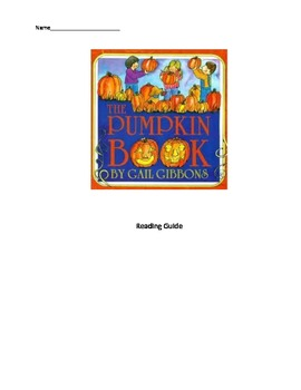 Reading Guide: Magic Tree House #1 by Osborne & The Pumpkin Book by Gibbons