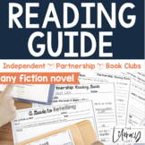 Reading Guide for Independent, Partnership,Book Clubs {any fiction novel}