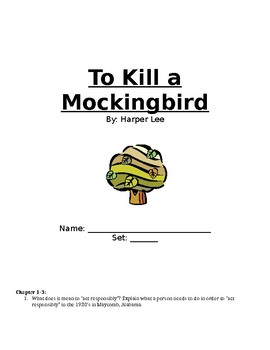 Reading Guide for To Kill a Mockingbird