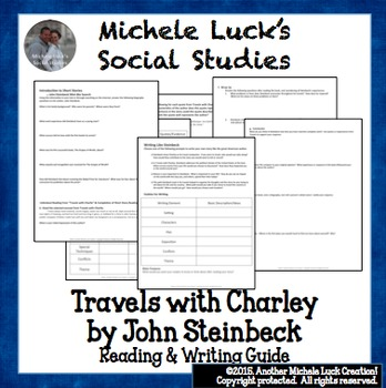 Reading Guide for Travels with Charley by John Steinbeck + Writing Assignment