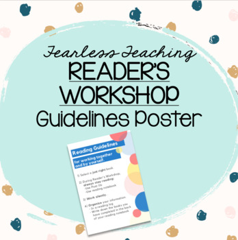 Reading Guidelines Poster