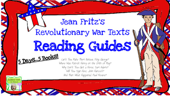 Reading Guides for Jean Fritz's Revolutionary War Texts