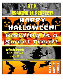 Reading Halloween Bookmarks