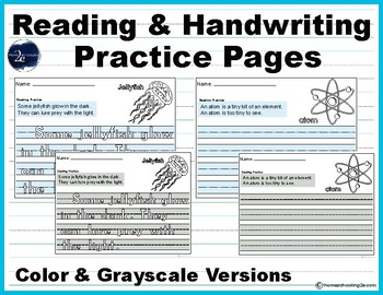 Reading & Handwriting Practice Pages
