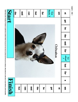 Reading High Frequency Sight Word Game Boards Level I
